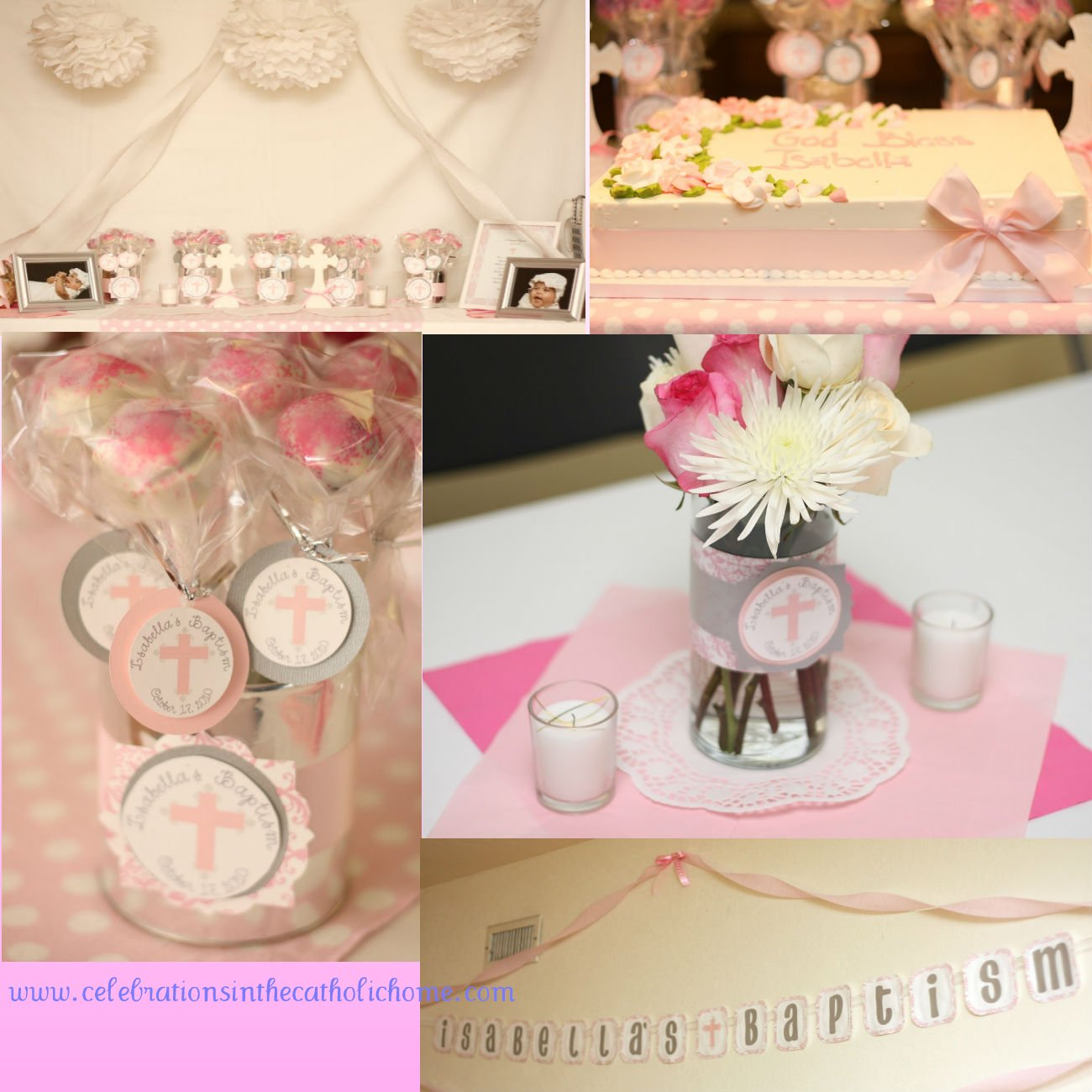 Pin baptism decoration cake ideas and designs for Baby girl baptism decoration ideas