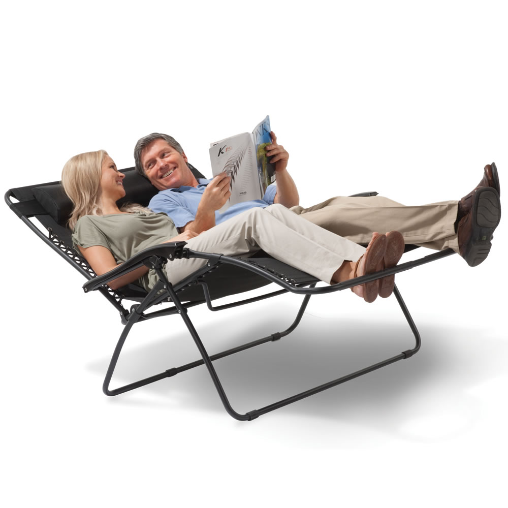 The Outdoor Reclining Loveseat Hammacher Schlemmer