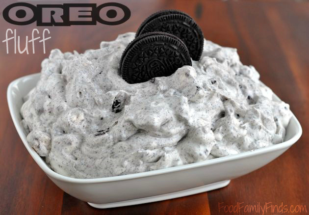 OREO fluff dessert recipe: 1 small box White Chocolate instant pudding ...
