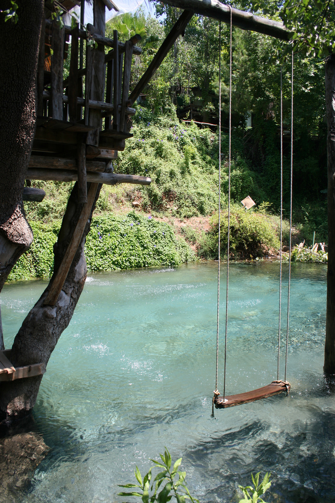 Swimming pool made to look like a pond. Now, that could have a place in my backy