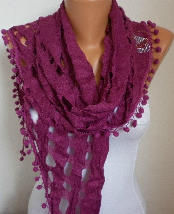 lace scarf scarf shawl sale scarf free scarf purple by