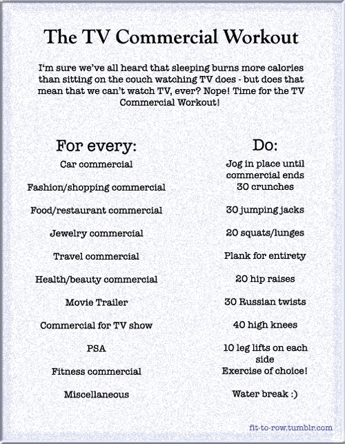 tv commercial workout