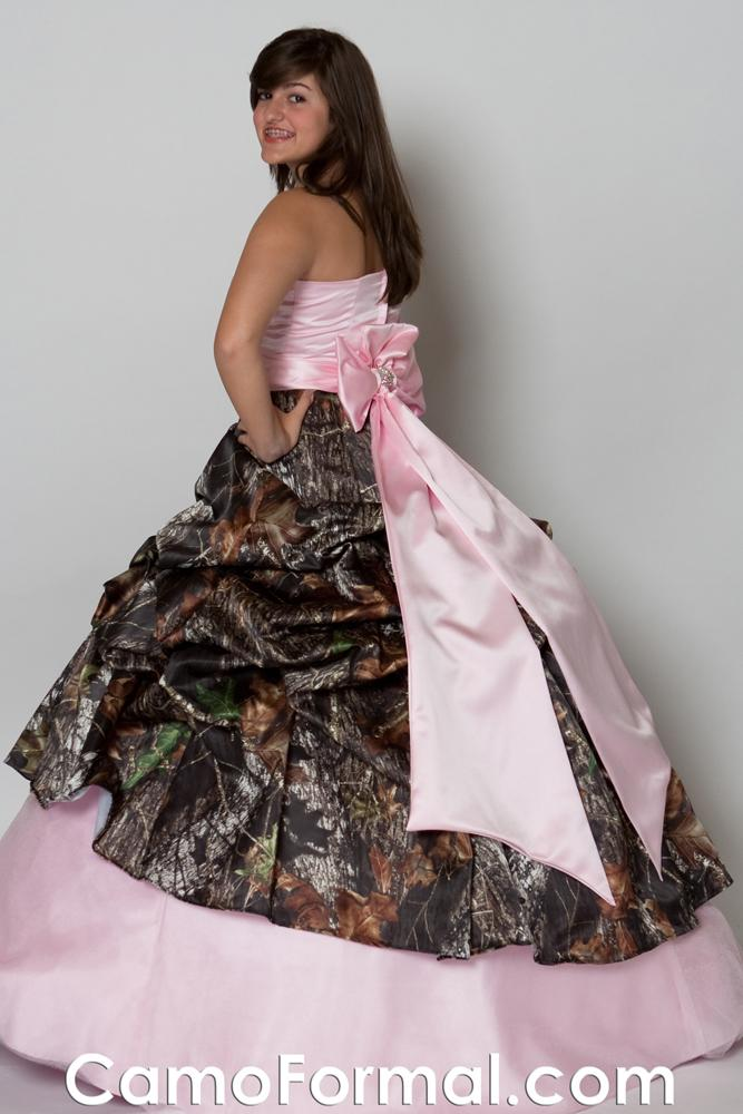 Pink Camo Wedding Dresses For Sale