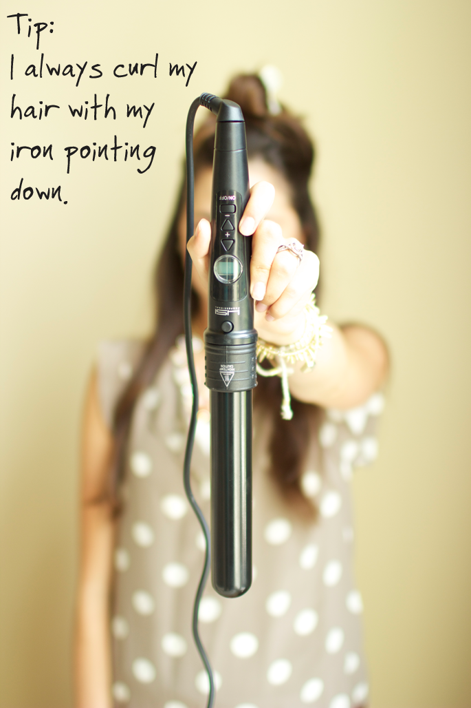 curling wand hair tutorial from pink peonies. Awesome tutorial makes