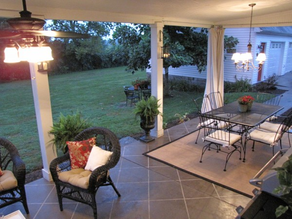 How To Stain Concrete Patio To Look Like Tile With