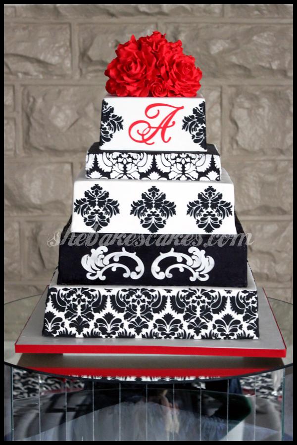 Damask Cake Topper