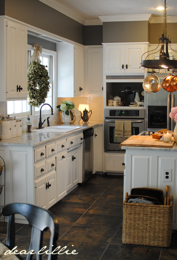 White Kitchens With Gray Walls And Cabinets