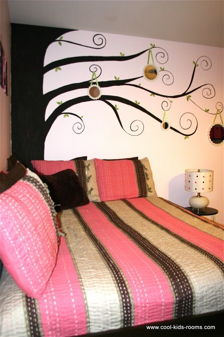 Pink and brown teen girl bedroom decorating cynthia theo mcbride bedroo pinpoint - Decor for teenage bedroom ...