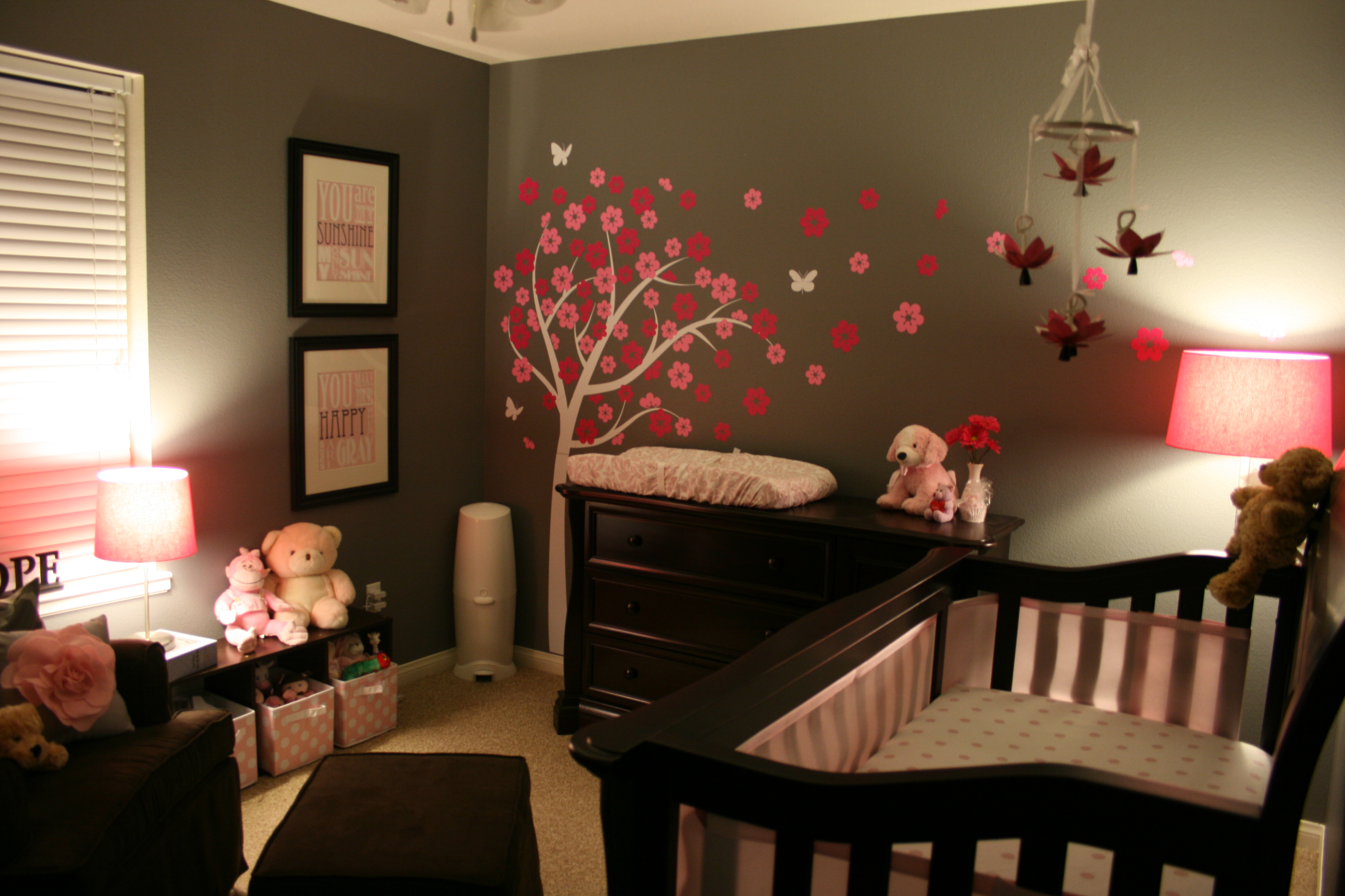 The gallery for grey ombre hair Dark wood baby furniture