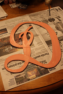 How to make your own wall monogram. Paint and personalize them! So cheap! These