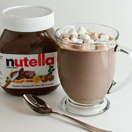 Nutella Hot Chocolate: 1 cup milk. 2 spoons nutella. Saucepan. Heat ...