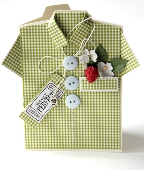 Открытка рубашка с днём рождения