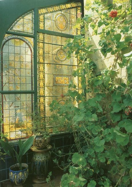 Garden conservatory victorian stained glass windows pinpoint for Garden room windows