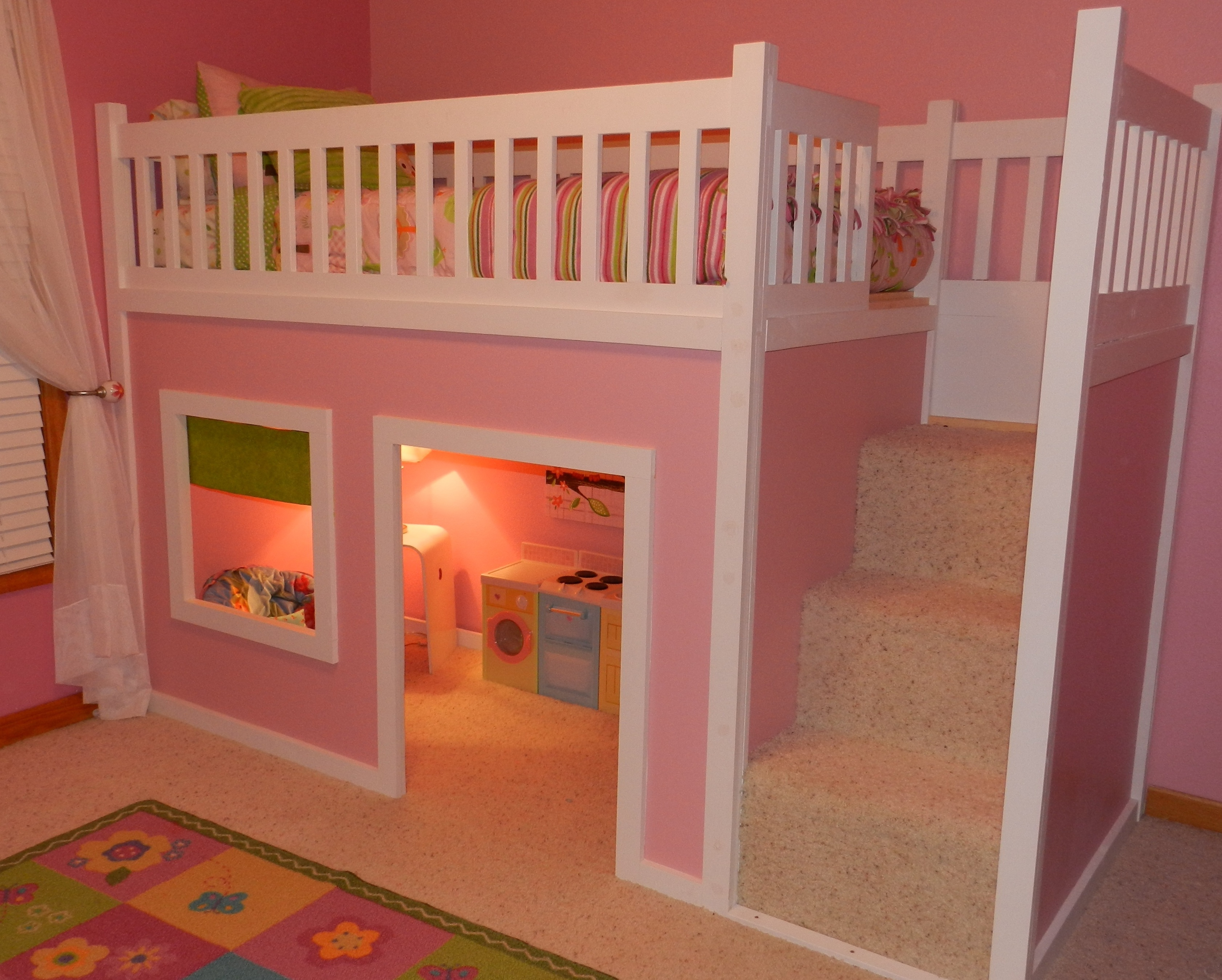 FREE instructions/plans on how to build a loft/playhouse bed ...