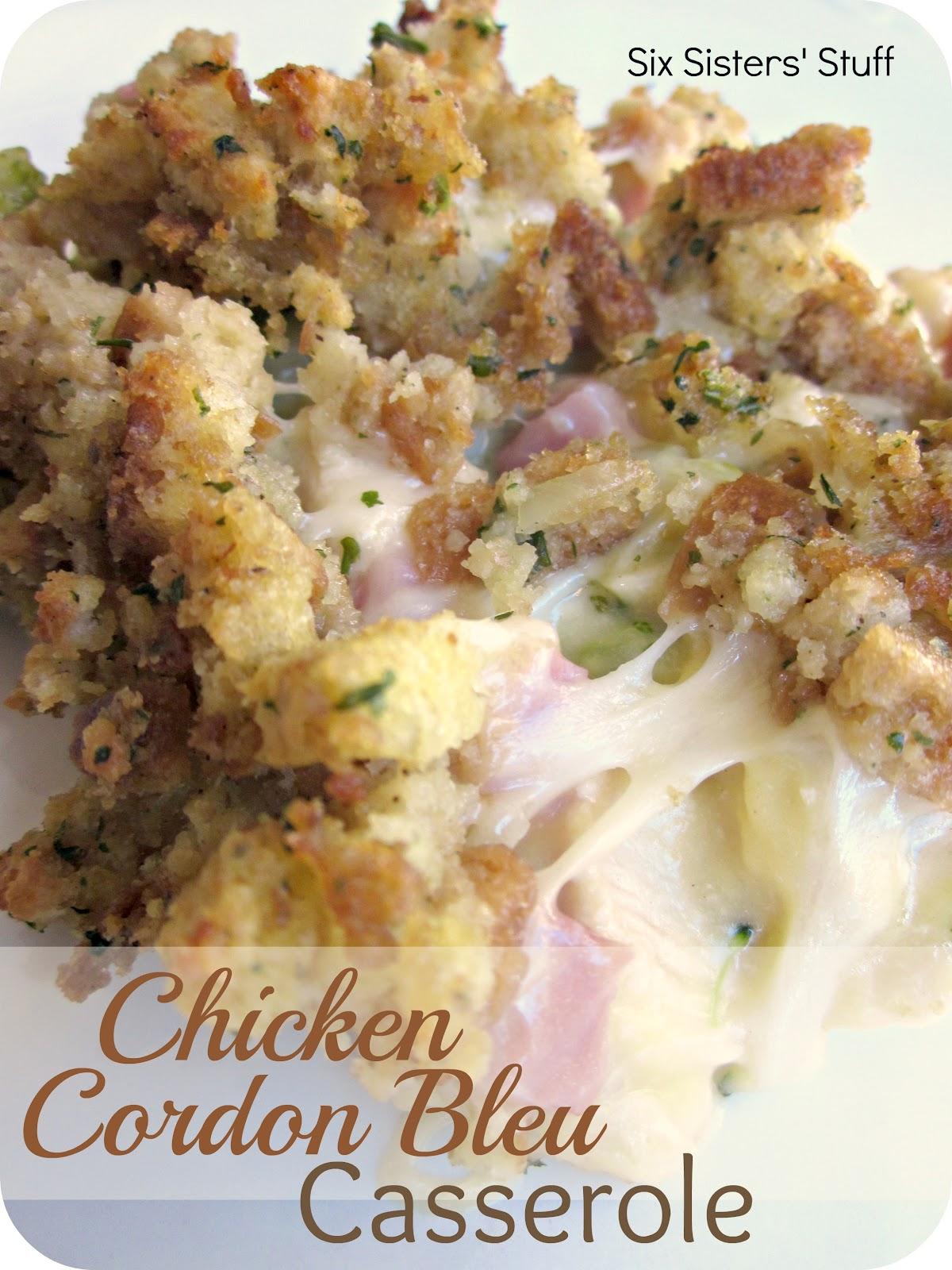 Six Sisters' Stuff: Chicken Cordon Bleu Casserole Recipe ⋆ PinPoint