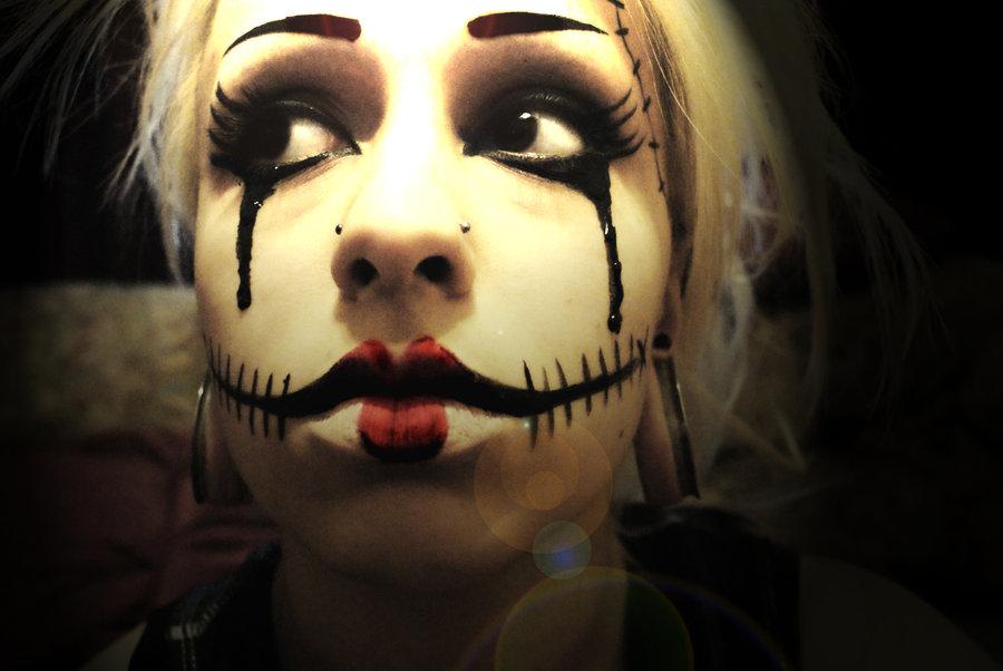 Рисунок на лице на хэллоуин видео 183