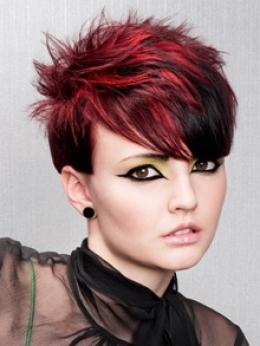 Short Red and Black Hair | Most Popular Pins