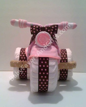 gift ideas tricycle diaper cake centerpiece unique baby shower gift
