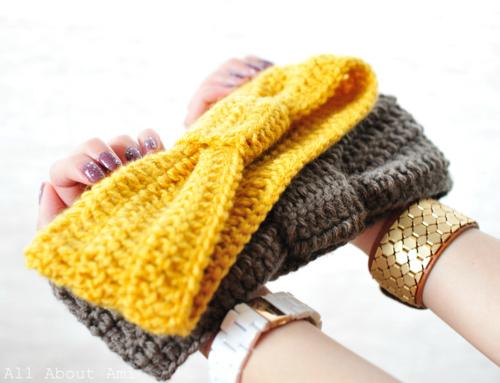 Crochet Tutorial Headband : Crochet Knotted Headband tutorial PinPoint