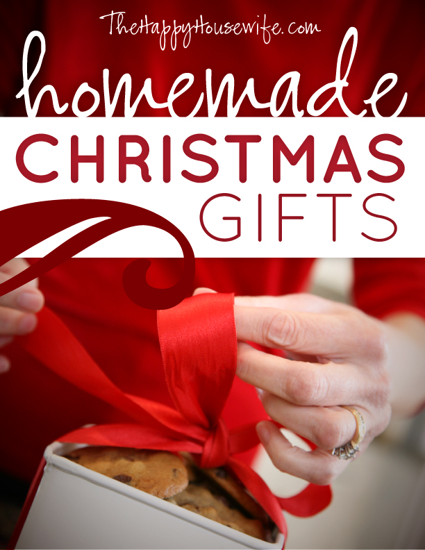 A Ton Of Homemade Christmas Gift Ideas And Tutorials