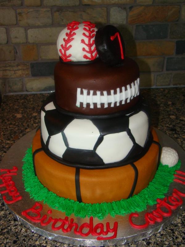 Sports Birthday Cake Most Popular Pins
