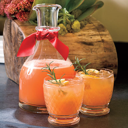 Rudolph's Tipsy Spritzer – Orange juice, Sprite, Vodka, Maraschino Cherry Ju