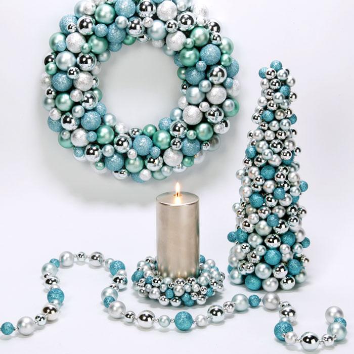 Tiffany Blue Christmas Decor Pinpoint