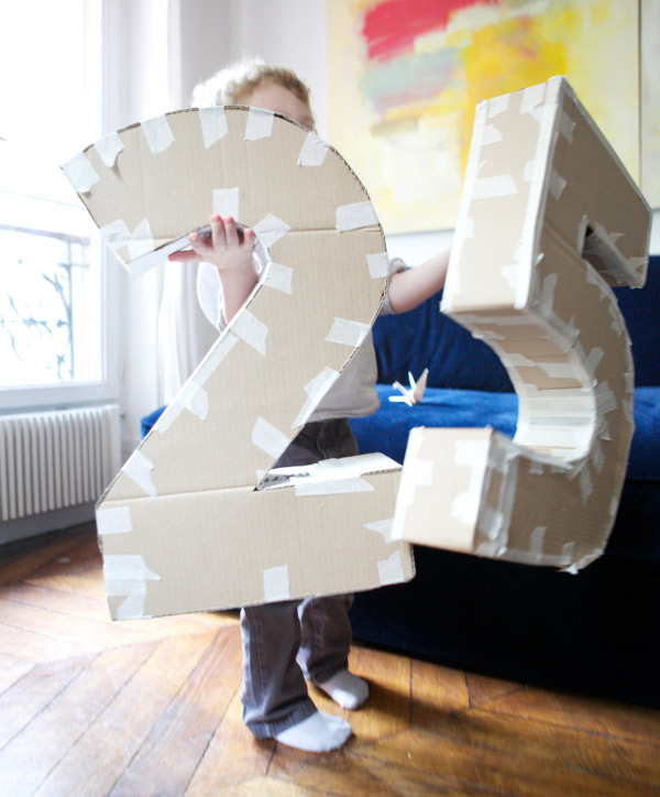 Как сделать объемные цифры из картона