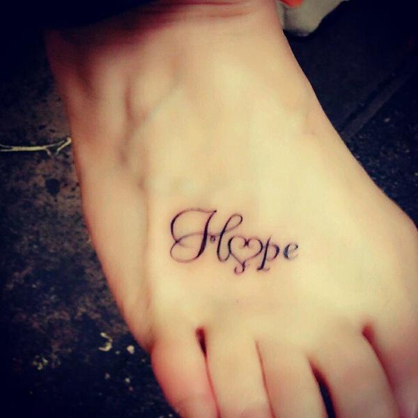 Надежда на латыни тату