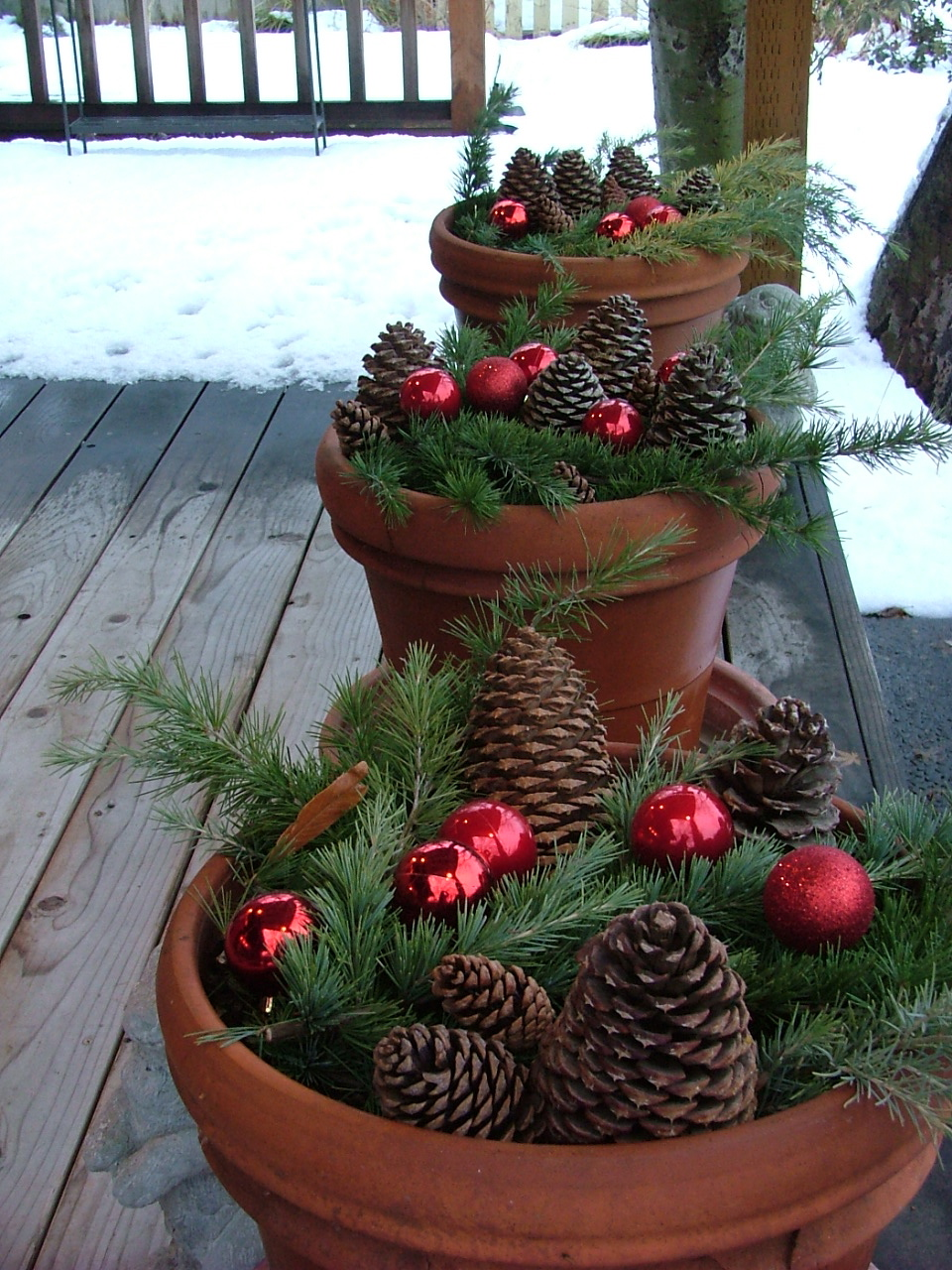 Easy outdoor christmas decor pinpoint for Minimalist xmas decorations