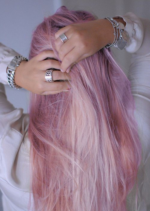 Pastel Hair Jewelry Silver Purple Pastel Hair Indie Fashion Hipster A