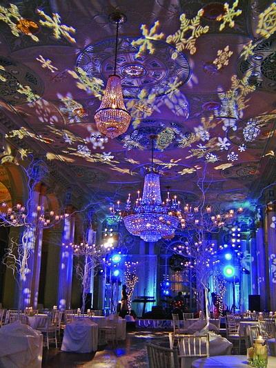 Winter wonderland theme party decorations