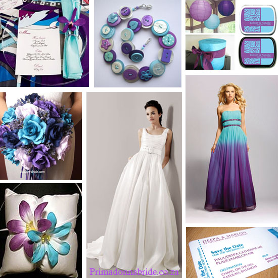 Teal And Purple Wedding Color Scheme