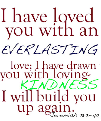 Have loved you with an everlasting love i have drawn you with