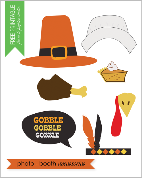 Free Printable - Thanksgiving photo props - so cute!