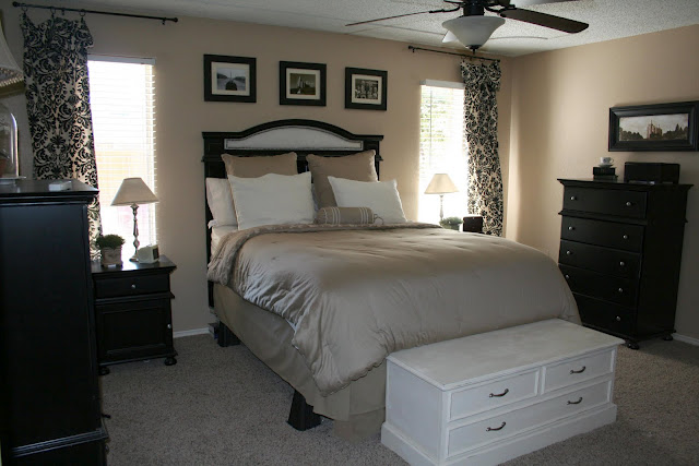 Bedroom inspiration beige black and white pinpoint for Beige and black bedroom ideas