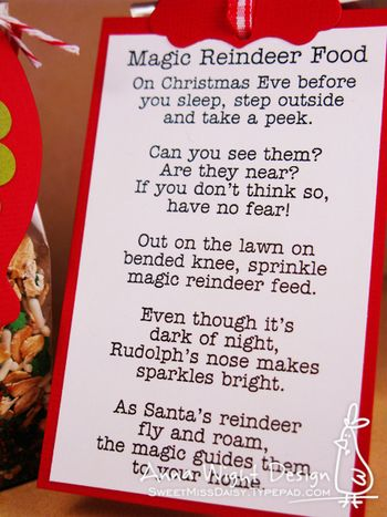 "Magic Reindeer Food"" Poem How cute! 