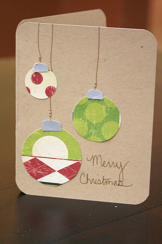 Diy christmas card pinpoint