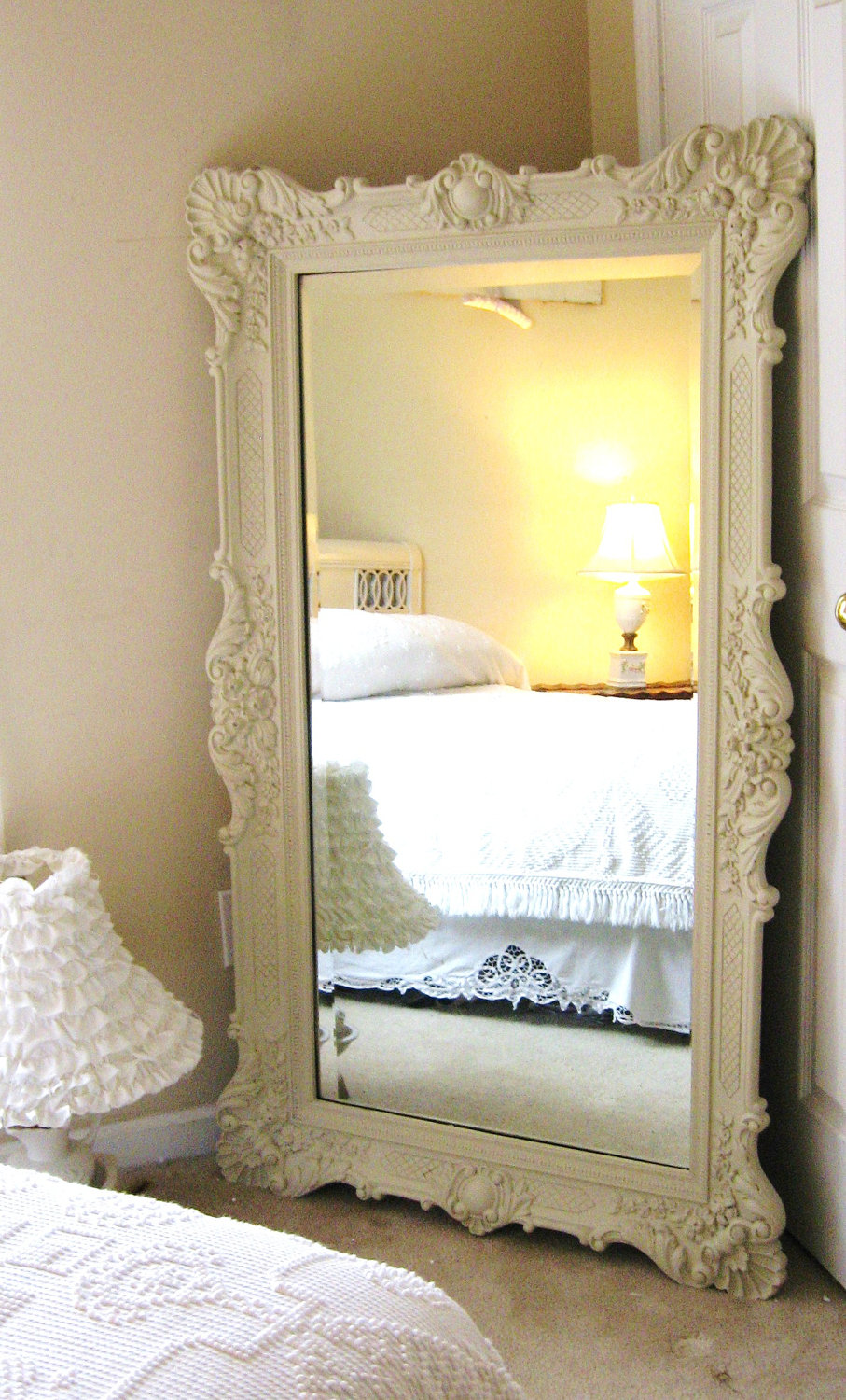 Vintage oversized mirror pinpoint for Large decorative floor mirrors
