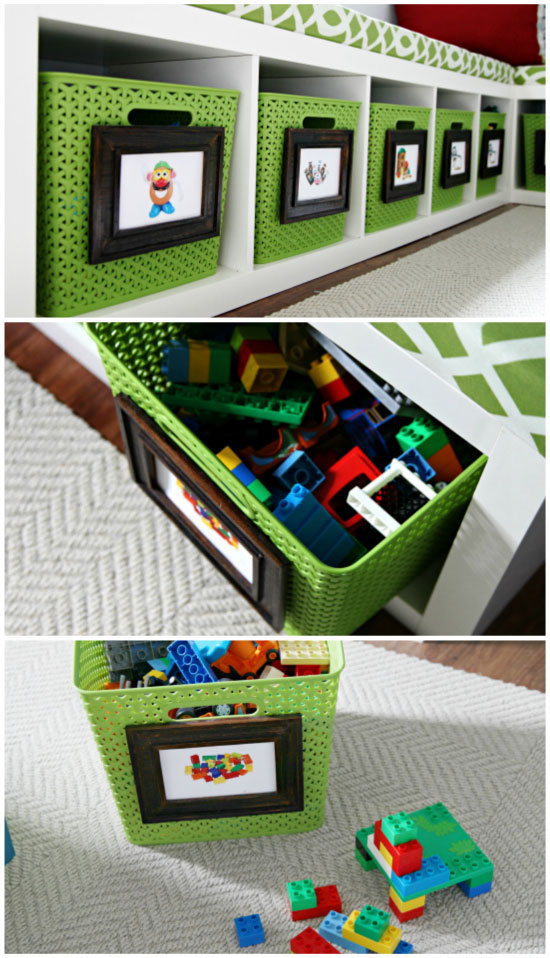 Picture Labels For Easy Storage Solutions In The Playroom