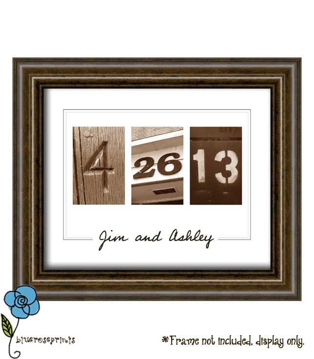 Wall Art With Wedding Date : Personalized wedding date printable wall art diy