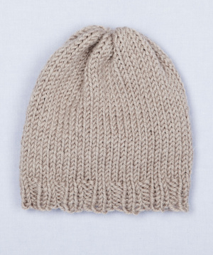 Free Loom Pattern: Loom Knit Simple Hat PinPoint
