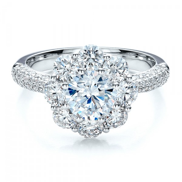 feminine cluster of diamonds wedding ring from from
