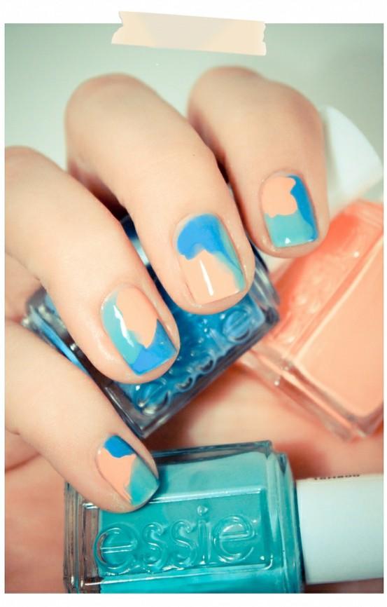 Summer nail art essie : Essie nail art great for summer pinpoint