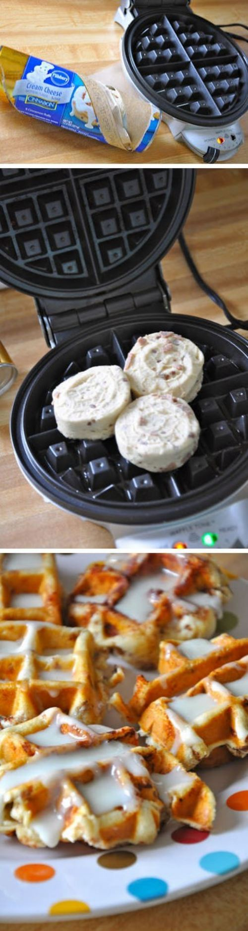 Cinnamon Roll Waffles?! Best idea ever! | Most Popular Pins
