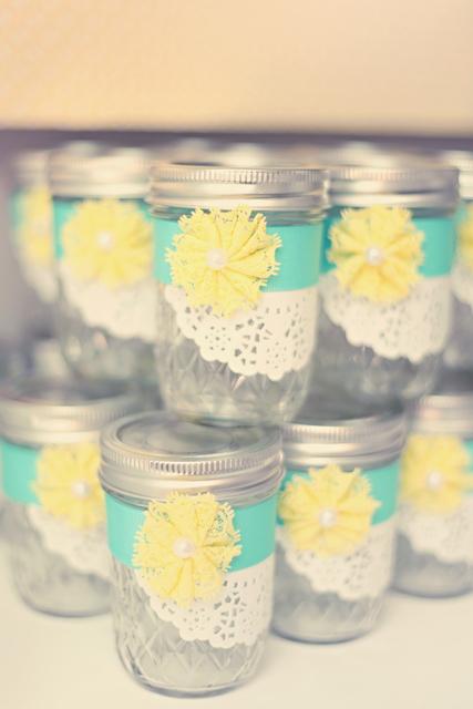 such pretty mason jar decor masonjar babyshower pinpoint