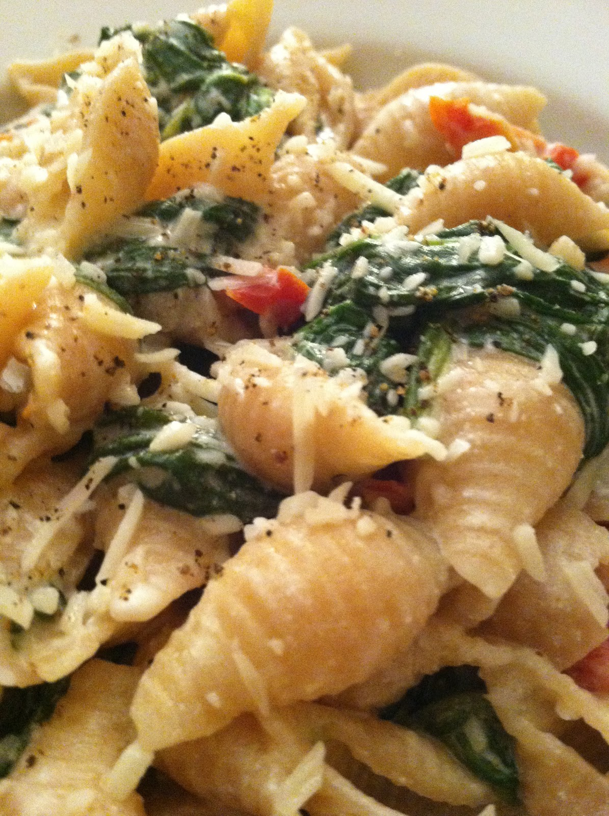 ... Wheat Pasta with Spinach, Goat Cheese + Sun Dried Tomato | PinPoint