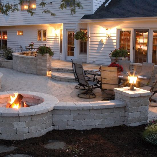 fire pit patio layout pinpoint