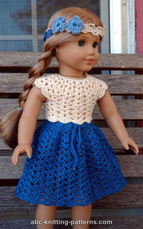 ABC Knitting Patterns - American Girl Doll Seashell Summer ...