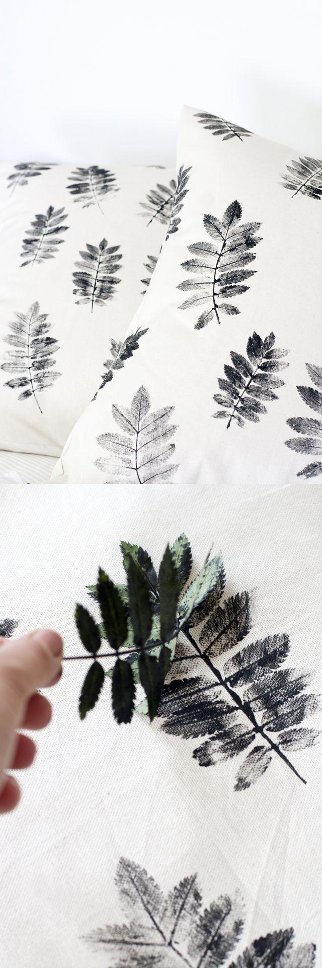 Pillow stamps DIY  idea